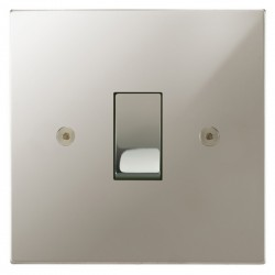 Focus SB Horizon Square Corners NHPN11.1 trimless 1 gang 20 amp 2 way rocker switch in Polished Nickel