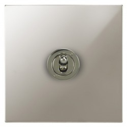 Focus SB Horizon Square Corners NHPN14.1 1 gang 20 amp 2 way toggle switch in Polished Nickel