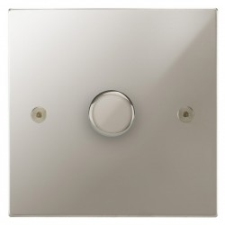 Focus SB Horizon Square Corners NHPN21.1 1 gang 2 way 250W (mains and low voltage) dimmer in Polished Nickel