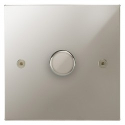 Focus SB Horizon Square Corners NHPN22.1 1 gang 2 way 400W (mains and low voltage) dimmer in Polished Nickel