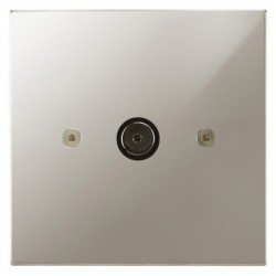 Focus SB Horizon Square Corners NHPN23.1 1 gang isolated co-axial TV socket in Polished Nickel