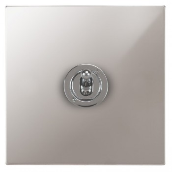 Focus SB Horizon Square Corners NHPS14.1 1 gang 20 amp 2 way toggle switch in Polished Stainless