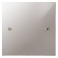 Focus SB Horizon Square Corners NHPS37.1 single blank plate in Polished Stainless
