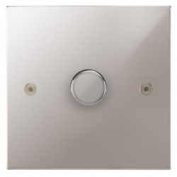 Focus SB Horizon Square Corners NHPS43.1/SML 1 gang 700W low voltage, 1000W mains voltage dimmer in Polished Stainless