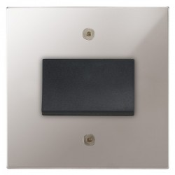 Focus SB Horizon Square Corners NHPS56.1B fan isolator switch in Polished Stainless