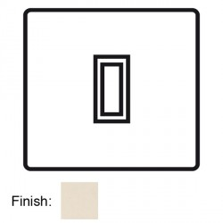 Focus SB Horizon Square Corners NHPW11.1 trimless 1 gang 20 amp 2 way rocker switch in Primed White