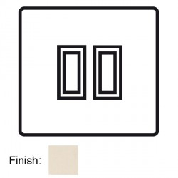 Focus SB Horizon Square Corners NHPW11.2 trimless 2 gang 20 amp 2 way rocker switch in Primed White