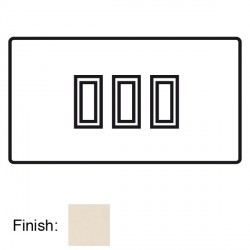 Focus SB Horizon Square Corners NHPW11.3 trimless 3 gang 20 amp 2 way rocker switch in Primed White