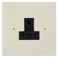 Focus SB Horizon Square Corners NHPW20.1B 1 gang 5 amp unswitched socket in Primed White with black inserts