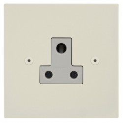 Focus SB Horizon Square Corners NHPW20.1W 1 gang 5 amp unswitched socket in Primed White with white inserts