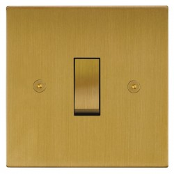 Focus SB Horizon Square Corners NHSB11.1 trimless 1 gang 20 amp 2 way rocker switch in Satin Brass