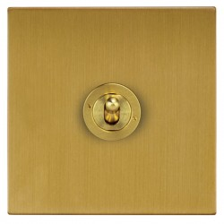 Focus SB Horizon Square Corners NHSB14.1 1 gang 20 amp 2 way toggle switch in Satin Brass