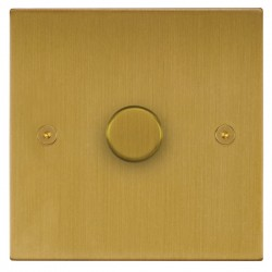Focus SB Horizon Square Corners NHSB21.1 1 gang 2 way 250W (mains and low voltage) dimmer in Satin Brass