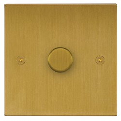 Focus SB Horizon Square Corners NHSB22.1 1 gang 2 way 400W (mains and low voltage) dimmer in Satin Brass