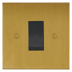 Focus SB Horizon Square Corners NHSB32.1B/SML 45 amp cooker control switch in Satin Brass