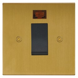 Focus SB Horizon Square Corners NHSB33.1B/SML 45 amp cooker control switch with neon in Satin Brass