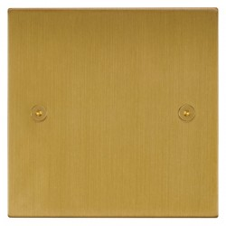 Focus SB Horizon Square Corners NHSB37.1 single blank plate in Satin Brass