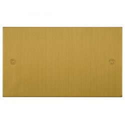 Focus SB Horizon Square Corners NHSB37.2 double blank plate in Satin Brass