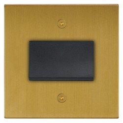 Focus SB Horizon Square Corners NHSB56.1B fan isolator switch in Satin Brass