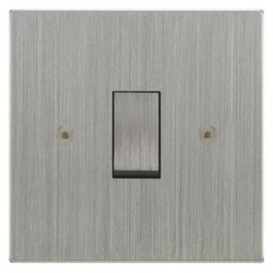 Focus SB Horizon Square Corners NHSC11.1 trimless 1 gang 20 amp 2 way rocker switch in Satin Chrome