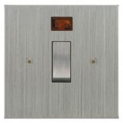 Focus SB Horizon Square Corners NHSC30.1 20 amp double pole rocker switch in Satin Chrome