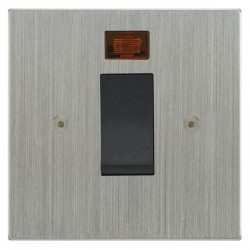 Focus SB Horizon Square Corners NHSC33.1B/SML 45 amp cooker control switch with neon in Satin Chrome