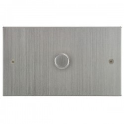 Focus SB Horizon Square Corners NHSC43.1 1 gang 700w low voltage, 1000w mains voltage dimmer in Satin Chrome