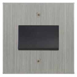 Focus SB Horizon Square Corners NHSC56.1B fan isolator switch in Satin Chrome