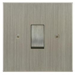 Focus SB Horizon Square Corners NHSN11.1 trimless 1 gang 20 amp 2 way rocker switch in Satin Nickel