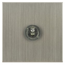 Focus SB Horizon Square Corners NHSN14.1 1 gang 20 amp 2 way toggle switch in Satin Nickel