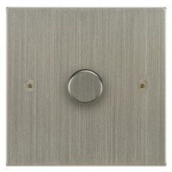 Focus SB Horizon Square Corners NHSN21.1 1 gang 2 way 250W (mains and low voltage) dimmer in Satin Nickel