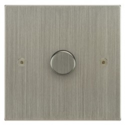 Focus SB Horizon Square Corners NHSN22.1 1 gang 2 way 400W (mains and low voltage) dimmer in Satin Nickel