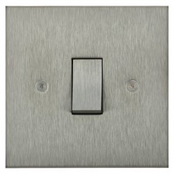 Focus SB Horizon Square Corners NHSS11.1 trimless 1 gang 20 amp 2 way rocker switch in Satin Stainless