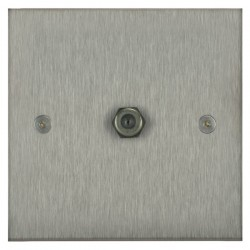 Focus SB Horizon Square Corners NHSS54.1 1 gang satellite socket in Satin Stainless