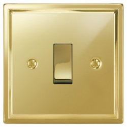 Focus SB Sheraton SPB11.1 1 gang 20 amp 2 way rocker switch in Polished Brass