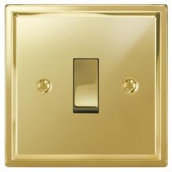 Focus SB Sheraton SPB11.1/3 1 gang 20 amp Intermediate rocker switch in Polished Brass