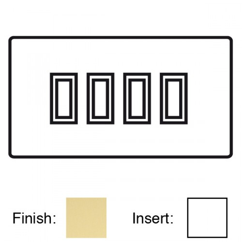focus sb sheraton s11 4w 4 gang 20 amp 2 way rocker switch in polished brass with white inserts