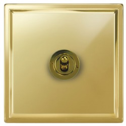 Focus SB Sheraton SPB14.1 1 gang 20 amp 2 way toggle switch in Polished Brass