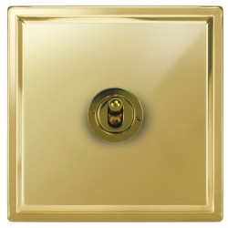 Focus SB Sheraton SPB14.1/3 1 gang 20 amp Intermediate toggle switch in Polished Brass