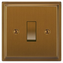 Focus SB Sheraton SBA11.1/3 1 gang 20 amp Intermediate rocker switch in Bronze Antique