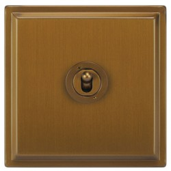 Focus SB Sheraton SBA14.1/3 1 gang 20 amp Intermediate toggle switch in Bronze Antique