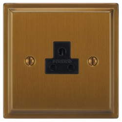 Focus SB Sheraton SBA19.1B 1 gang 2 amp unswitched socket in Bronze Antique with black inserts