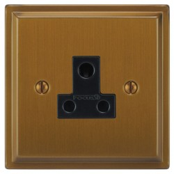 Focus SB Sheraton SBA20.1B 1 gang 5 amp unswitched socket in Bronze Antique with black inserts