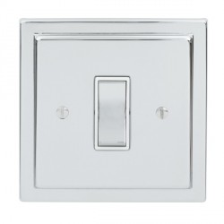 Focus SB Sheraton SPC11.1/3W 1 gang 20 amp Intermediate rocker switch in Polished Chrome with White Inserts
