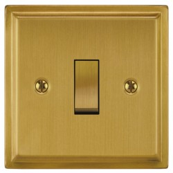 Focus SB Sheraton SSB11.1 1 gang 20 amp 2 way rocker switch in Satin Brass