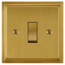 Focus SB Sheraton SSB11.1/3 1 gang 20 amp Intermediate rocker switch in Satin Brass