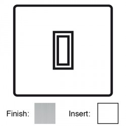 Focus SB Sheraton SSC11.1W 1 gang 20 amp 2 way rocker switch in Satin Chrome with white inserts