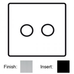 Focus SB Sheraton SSC21.2 2 gang 2 way 250W (mains and low voltage) dimmer in Satin Chrome