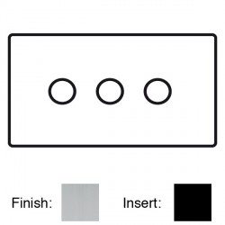 Focus SB Sheraton SSC21.3 3 gang 2 way 250W (mains and low voltage) dimmer in Satin Chrome