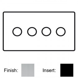 Focus SB Sheraton SSC21.4 4 gang 2 way 250W (mains and low voltage) dimmer in Satin Chrome